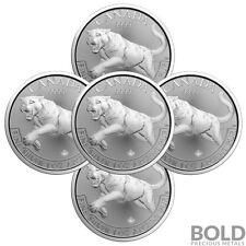 2016 Silver 1 oz Canada Predator Cougar (5 Coins)