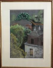 Zoum WALTER 1902-1974 (Julienne W.dite).Villa Boileau,Paris.Pastel.SBD.34x24