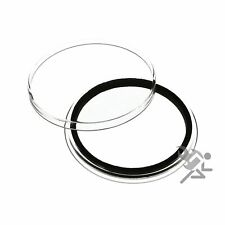 (50) Air-tite 42mm Black Ring Coin Holder Capsules