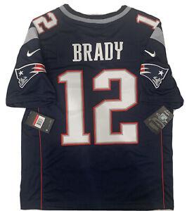 New Tom Brady Large Mens New England Patriots Navy Vapor Limited Nike Jersey NWT