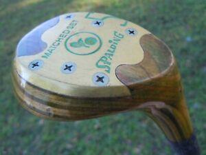 Vintage Lady Spalding Matched Set Laminated Fairway Wood Steel Shaft Golf Club