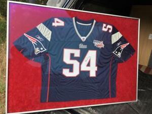 Teddy Bruschi New England Patriots Super Bowl XXXVI 36 FRAMED Football Jersey