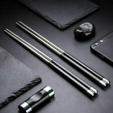 HOT Reusable Chopsticks Metal Korean Chinese Stainless Steel Chop Sticks [1Pair]