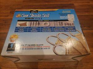 ShelterLogic ShadeLogic Sun Shade Sail Square 12 ft. x 12 ft. Sand New Open Box