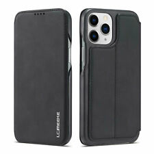 Luxury Leather Skin Stand Magnetic Flip Case Cover For iPhone XS 11 12 Pro Max