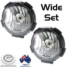 7 inch HID DRIVING SPOT LIGHTS 205mm WIDE SET - 55W 12V  FREE COVERS - ABR UNITS