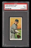 Rare 1909-11 T206 Deacon Phillippe Piedmont 350 Pittsburgh PSA 5.5 EX +