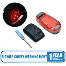 LED Bike Bicycle Rear Tail Light Clip On Jogging Cycling Safety Warning Lamp Red