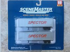 WALTHERS HO 1/87 SCALE SPECTOR MOTOR SERVICE 40' TRAILERS 2-PACK # 949-2302 F/S