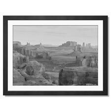 A3  - BW - Hunts Mesa Monument Valley Arizona Framed Print 42X29.7cm #37564