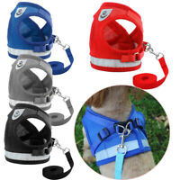 Walk Leash Puppy Vest Mesh Collar Chest Strap Dog Harness Pet Traction Rope