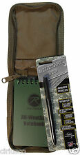 "All Weather Tactical 3""x5"" Notebook, Tan Cover & Fisher Military Space Pen Kit"