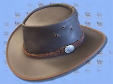 BUSH Leather AUSSIE MADE Wax Leather... W/Resistant HAT
