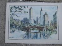 Vtg ESSO Tony the Tiger City card Print New York City Central Park view