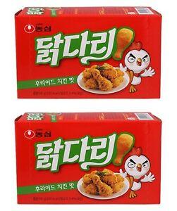 Korean Snack NONGSHIM DAKDARI 66g x 2pack Fried Chicken Taste Crispy Beer