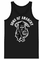 Adult Men's Crime Drama TV Show Sons of Anarchy Classic Reaper Black Tank Top