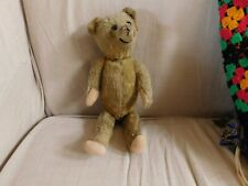 Antique Early 20thC Jointed Straw Filled Mohair Teddy Bear Vintage