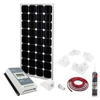Solar Panel Set 100W | MPPT Regler | Halter | 5M Kabel | Sika | Dachdurchführung