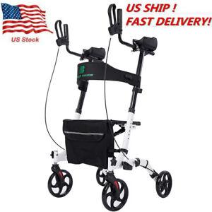 Upright Medical Walker Upwalker Lightweight Rollator Walker 4 Wheel Walking Aid