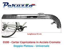 Carter Copricatena in Acciaio Cromato Doppio Platò per Bici 24-26-28 City Bike