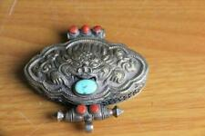 Fine and Old Chinese / Tibetan  Silver Pendent Silver Box marked 925.