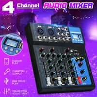 4 Channel USB bluetooth Live Stage Studio Audio Mixer Mixing DJ Console Stereo