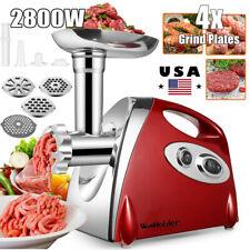 Electric 2800W Meat Mincer Grinder Sausage Maker  Filler Kitchen Mincing Machine