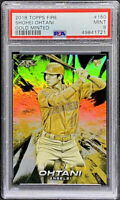 Shohei Ohtani 2018 Topps Fire Gold Minted Rookie RC #150 Angels PSA 9 POP 4