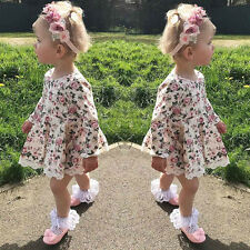 Toddler Kids Baby Girl Floral Lace Tutu Dress Party Pageant Ball Princess Dress