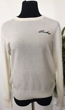NWT Coach Women Lucky Intarsia Cream Natural Wool Blend Sweater Size S MSRP $295