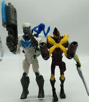 "2013 Mattel Max Steel Duel Force Ven Ghan& Artick Attack  6.5"" figure Bundle"