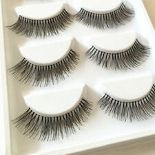 5Pairs Natural Sparse Cross Lashes Extension Makeup False Eyelashes Clear Band