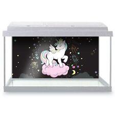 Fish Tank Background 90x45cm - Pretty Space Unicorn Horse Kids  #14738