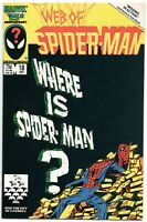 Web Of Spider-Man 18 Marvel 1986 NM+ 9.6 Cameo Venom Eddie Brock