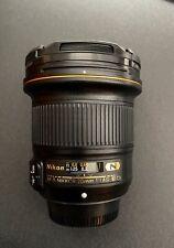 Nikon AF-S NIKKOR 20mm f/1.8g ED Ultrawide Lens.