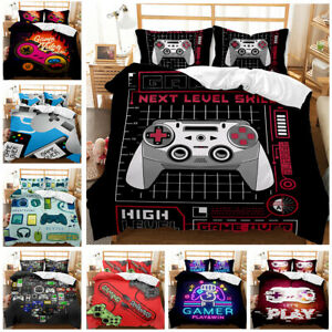 GAMER 3Pcs Bedding Set GAMING Duvet Cover Pillowcases Comforter Cover US Size