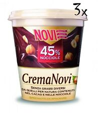 3x Novi Haselnusscreme 45% Haselnüsse schokolade 200g Brotaufstrich Aufstrich