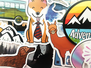 50 Outdoors Hiking Camping Nature Stickers Laptop Bumper Bike Adventure Decals