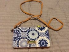 Lily Bloom Small Cross Body Wallet Purse Blue 8x5 R37