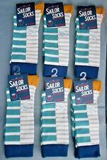 6 pares de calcetines de marinero de hombre de bambú Seasalt Talla 8-12 Reino Unido 42-47 Bretón mezcla de minerales