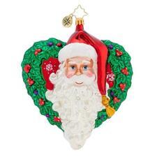 Christopher Radko With Love From Santa Heart Wreath Ornament 1019777 Sale