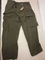 Austrian Army Olive Green Ripstop Combat Cargo Trousers Heavy Duty Work Pants UK