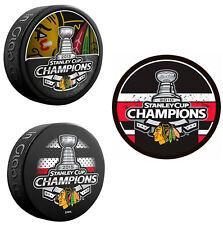 (3) Chicago Blackhawks NHL Stanley Cup Souvenir Hockey Pucks - 2010, 2013, 2015