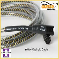Analysis Plus Yellow Oval 4ft Microphone (Mic) Cable