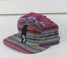 New Neff Chalupaid Camper 5 Panel Adjustable Strap Flat Brim Hat Multicolor
