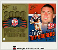 2009 NRL Classic Predictor + Top Tryscorer Card TT14 S. Kenny-Dowall (Roosters)