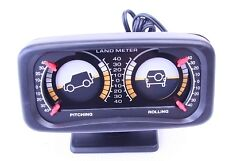 Back Lit Double Incline Pitch and Roll Land Meter to Suit All Off Road Vehicles