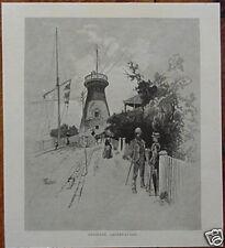 1886 PRINT Brisbane Observatory WICKHAM TCE