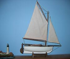 "Wooden Ship Model GAFF RIGGED CUTTER 13"" Long Beautiful! New in Box- old stock"