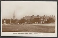 Postcard Aldershot Hampshire the Military Headquarters church centotaph 1927 RP